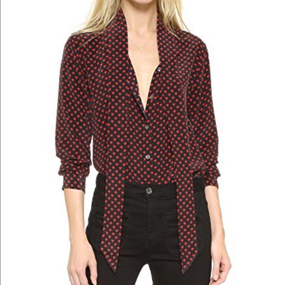 5000fd44abf2b Equipment Tops - Kate Moss got Equipment heart silk blouse size S